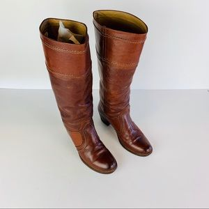 Frye Boots 7.5 M Brown Campus Jane Riding Leather
